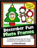 Frame Ornaments for December Fun - Ten choices. Great keepsakes or gifts!