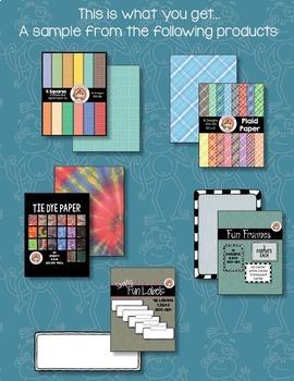 Frame & Paper Sampler #1