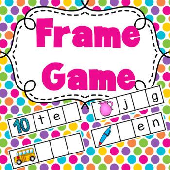 FREEBIE Frame Phonics Spelling Game - Literacy Center