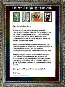 Frame & Display Your Art! EDITABLE