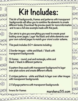 Frame and Pattern Kit Decorative Lines - Create Your Own Cover Pages
