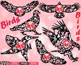 Frame circle Birds Mascot Woodland SVG Eagle Love Labels mascot Clipart 441s
