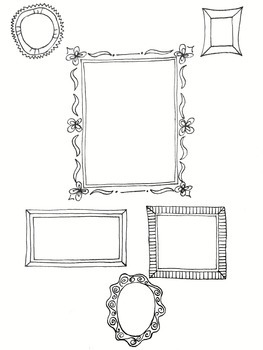 Frame coloring worksheet