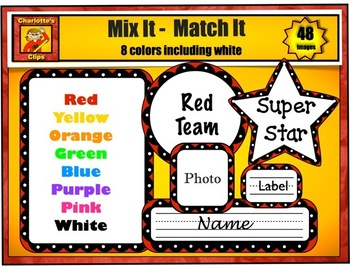 Frames, Borders, Bunting, Labels, and Star Clip Art from Charlotte's Clips