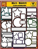 Frames, Borders, Bunting, Labels, and Star Clip Art from C