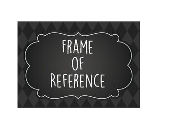 Frame of Reference Posters