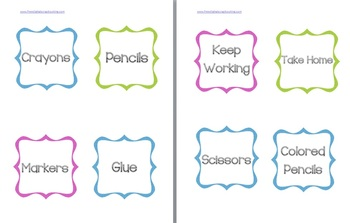 Framed Classroom Labels