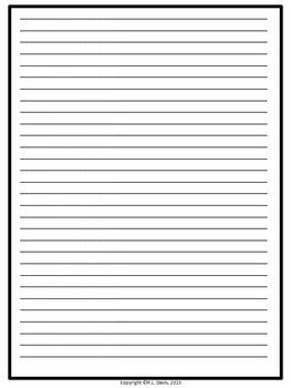 Framed Lined Paper