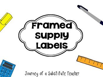 Framed Supply Labels