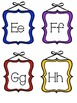 Framed alphabet letters for word wall