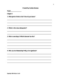 Framed by Gordon Korman Comprehension Questions