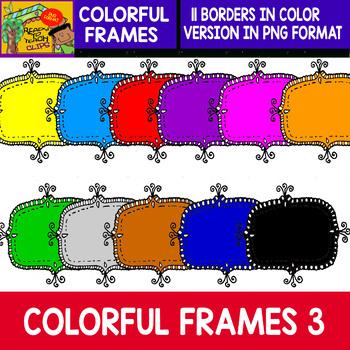 Frames - 12 Colorful Frames - Set #3