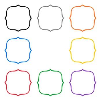 Bracket Frames ~ Bold Colors