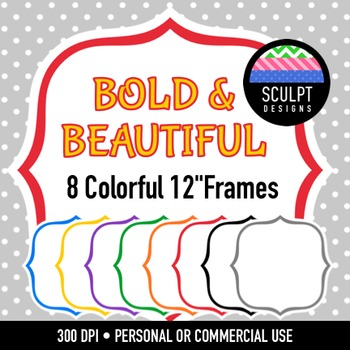 Bracket Frames ~ Bold Colors