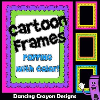 d7806ff53511 Frames  Cartoon Style Borders by Dancing Crayon Designs
