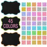 Clip Art: Frames - 45 Fancy Chalkboard Glitter Frames