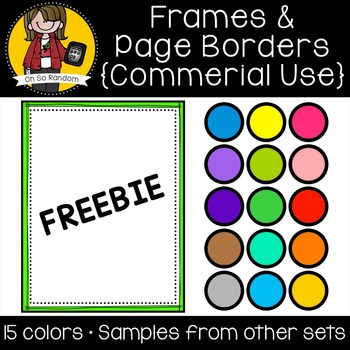 Frames 7 {Clip Art for CU} FREEBIE