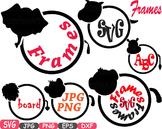 Frames Animal Safari Chalk board SVG Chalkboard clip art school lion tiger -418s