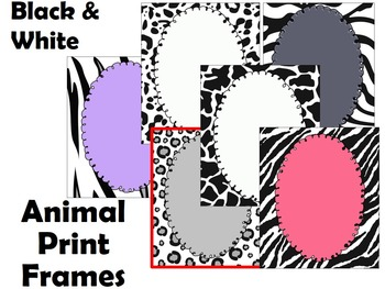 Frames - Animal print - Personal & Commercial use