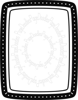 Frames, B&W Chunky, for TPT Sellers - High Quality Vector Graphics