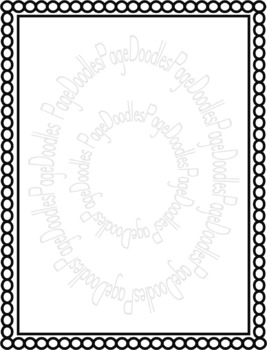 Frames, B&W Thin, for TPT Sellers - High Quality Vector Graphics