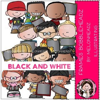 Frames clip art - Bobbleheadz - BLACK AND WHITE- by Melonheadz