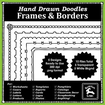 Frames & Borders - Hand Drawn Doodles - Free