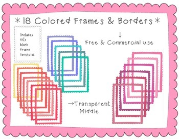 18+ Scalloped Frames/Borders Huge Kit!