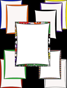 Frames- Bright Curtain Style Frames/Headers [white background]