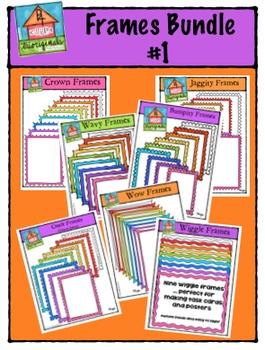 Frames Bundle #1 {P4 Clips Trioriginals Digital Clip Art}