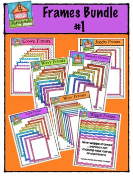Frames Bundle #1 {P4 Clips Trioriginals Digital Clip Art}