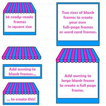 Clip Art Shops | Candy Store Frames