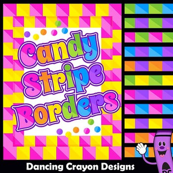 39bad50759de Clip Art Candy Stripe Borders and Frames Clipart by Dancing Crayon Designs