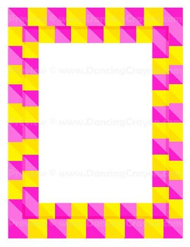 Clip Art Candy Stripe Borders and Frames Clipart