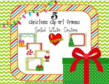 Frames - Christmas Clip Art Frames for Covers/Product Pages {Commercial Use}