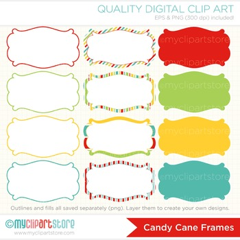 Frames - Christmas / Sweet Candy Cane