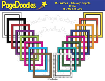 Frames, Chunky Brights, for TPT Sellers - High Quality Vector Graphics