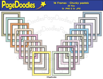 Frames, Chunky,Pastels, for TPT Sellers - High Quality Vector Graphics