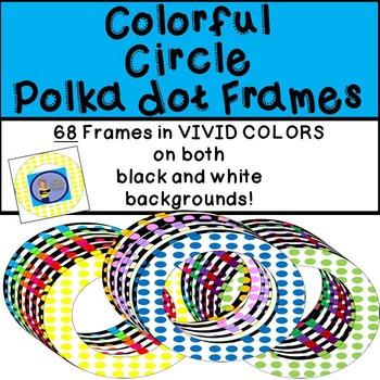 Frames - Circle Bright Polka dot