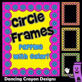 Frames and Borders Clip Art | Circle Design