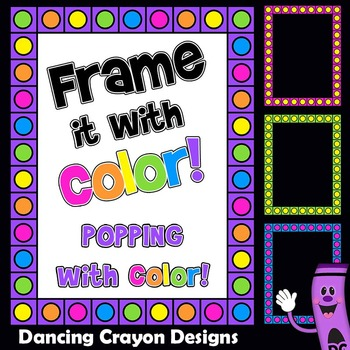 2e0a9119ae60 Bright and Colorful Borders Clip Art by Dancing Crayon Designs