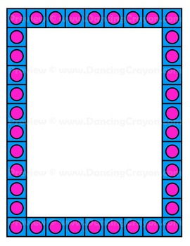 Bright and Colorful Borders Clip Art