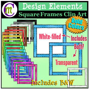 Square Frames Clip Art Bold