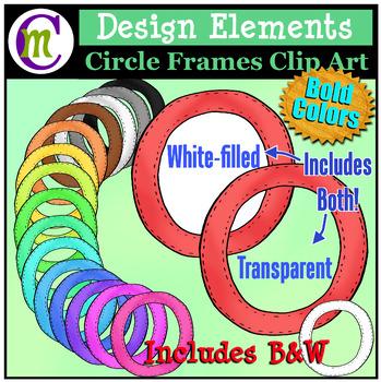 Circle Frames Clip Art Bold