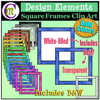 Frames Clip Art | Designing Elements Clip Art | Bold Pattern