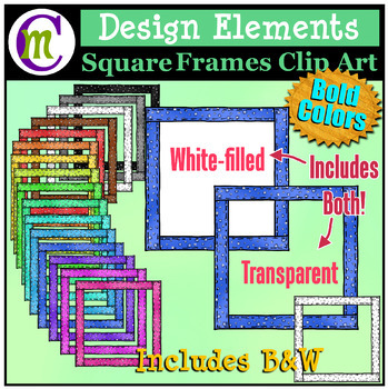 Square Frames Clip Art Bold Pattern