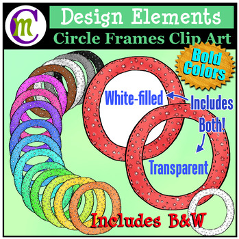Circle Frames Clip Art Bold Pattern