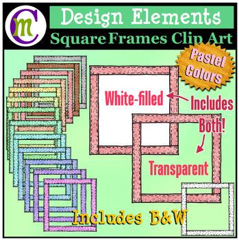 Square Frames Clip Art Pastel Pattern