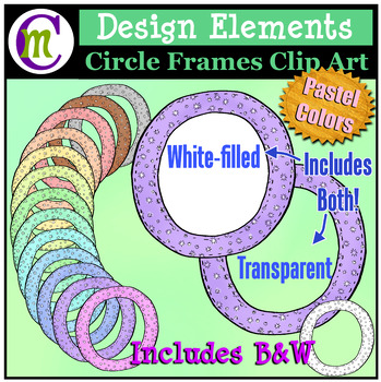 Circle Frames Clipart Pastel Pattern
