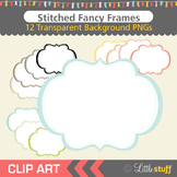 Frames Clip Art, Fancy Frames Clipart, Stitched Frames Clipart